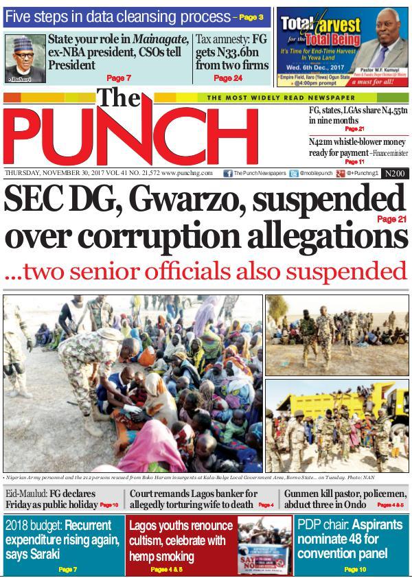 Epunchng - Most read newspaper in Nigeria Nov 30 2017