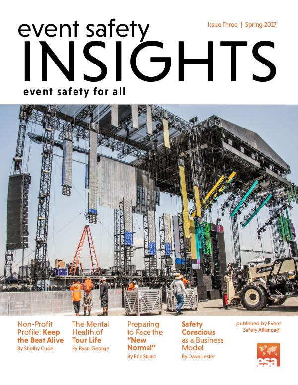 Event Safety Insights Issue Three | Spring 2017