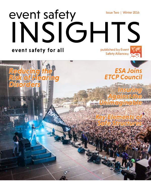 Event Safety Insights Issue Two | Winter 2016