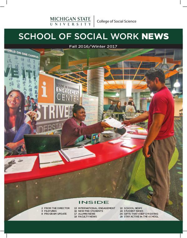 MSU School of Social Work Fall 2016/Winter 2017 Fall 2016 - Winter 2017