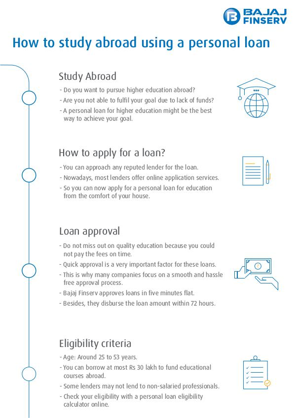 Use Personal Loan to Finance Your Study Use Personal Loan To Study Abroad