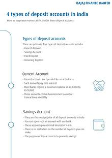 4 Types of Deposit Accounts in India
