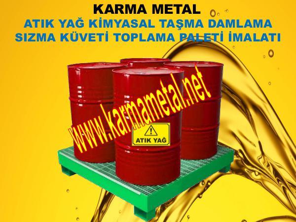 Karma Metal sivi kimyasal yag akaryakit paleti ibc varil kuveti toplama tavasi
