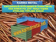 KARMA METAL Metal malzeme tasima kasasi Endustriyel toplama paletleri