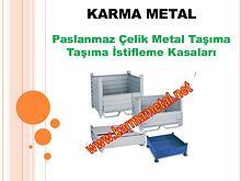 KARMA METAL - Katlanabilir İstiflenebilir Metal Tasima Kasalari