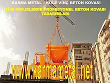 Karma Metal-Beton  Kovasi Cesitleri Kule vinc beton kovalari