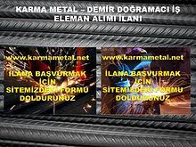 Karma Metal-Demir dogramaci is eleman ilani
