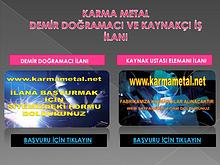 kaynak demir dograma eleman arayanlar istanbul is ilani ilanlari