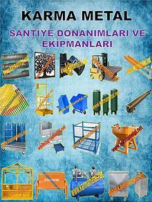 Santiye donanimlari malzemeleri cozumleri ekipmanlari fiyati
