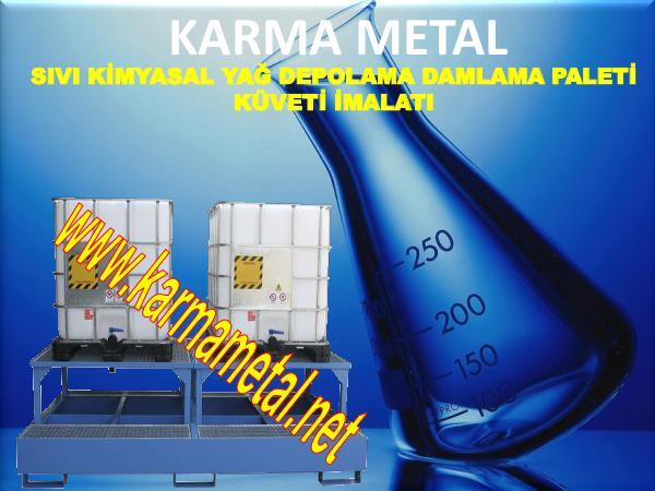 karma metal kimyasal atik dokuntu damlama depolama toplama havuzu paslanmaz metal sivi paleti
