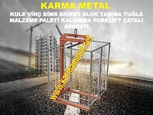 KARMA METAL kule mobil vinc yuk briket blok tugla tasima catali