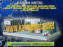 KARMA METAL toplama kuveti sivi kimyasal emniyet kaplari taban kuveti