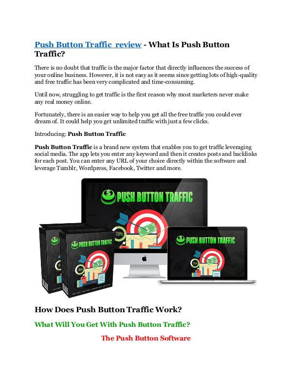 Marketing Push Button Traffic review and (SECRET) $13600 bon