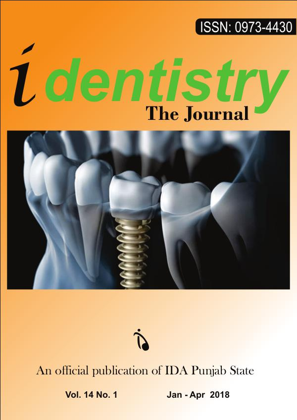 iDentistry The Journal Volume 14 No.1