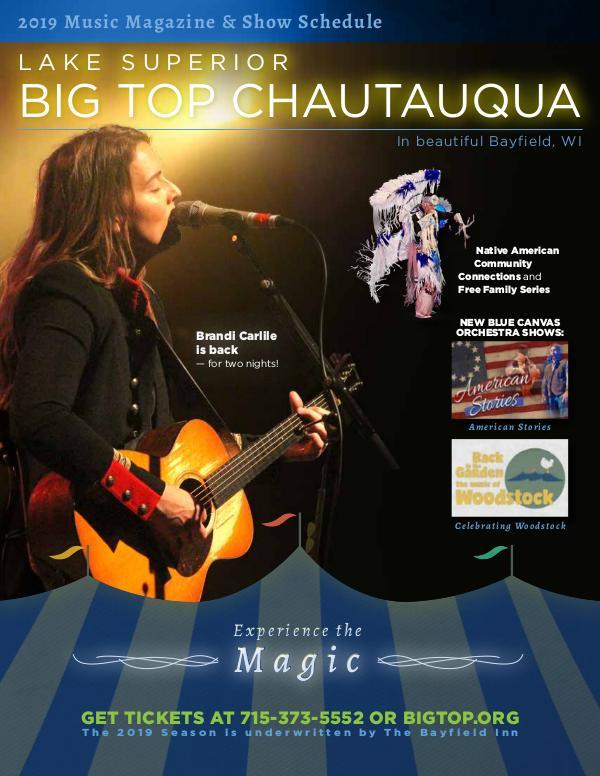Season Program   Big Top Chautauqua 2019
