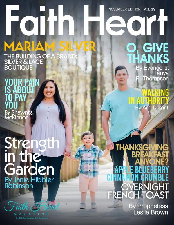 Faith Heart Magazine Mariam Silver