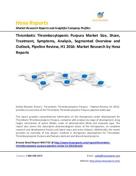 Thrombotic Thrombocytopenic Purpura Market