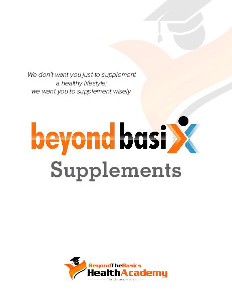Beyond.  Health and Wellness Magazine Supplement Issue