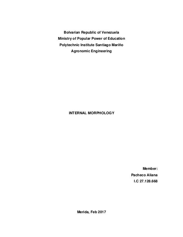 Agricultural zoology internal morphology
