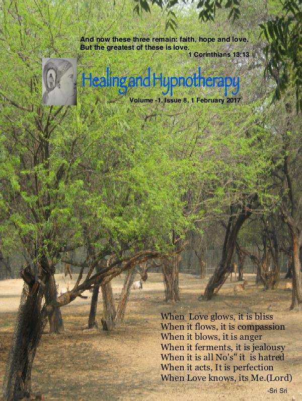Healing and Hypnotherapy Volume 1, Issue 8, (1 February 2017)
