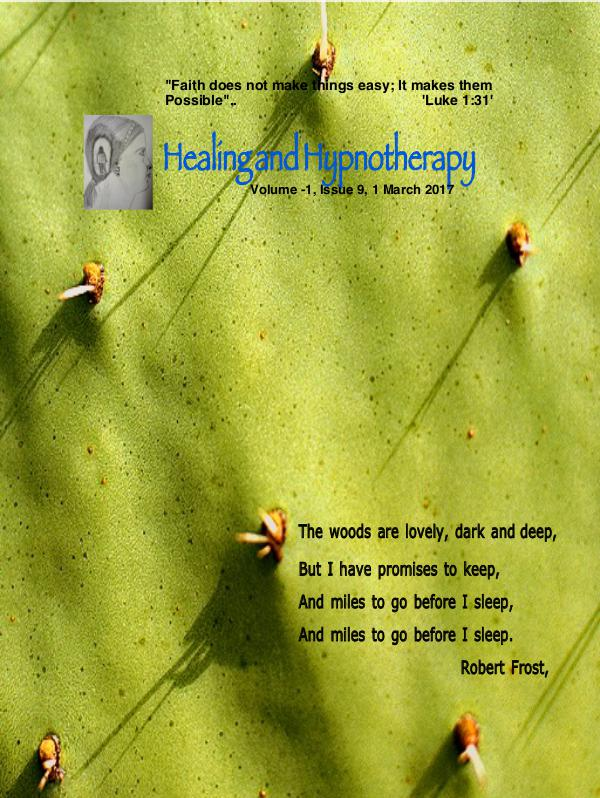 Healing and Hypnotherapy Volume 1, Issue 9, (1 March 2017)