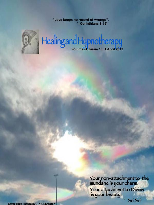 Healing and Hypnotherapy Volume 1, Issue 10, (1 April 2017)
