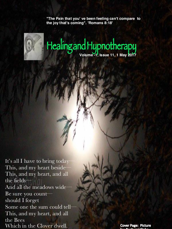 Healing and Hypnotherapy Volume 1, Issue 11, (1 May 2017)