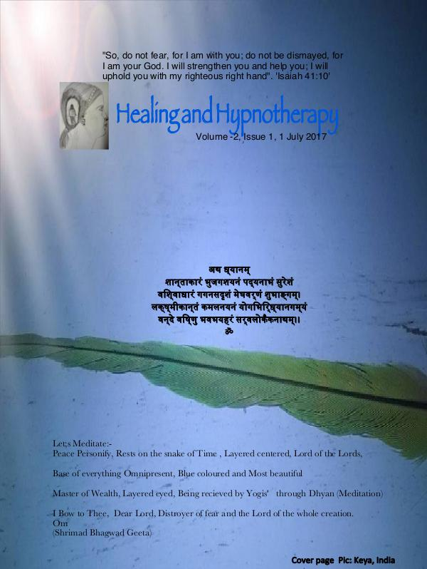 Healing and Hypnotherapy Volume 2, Issue 1, (July 1, 2017)