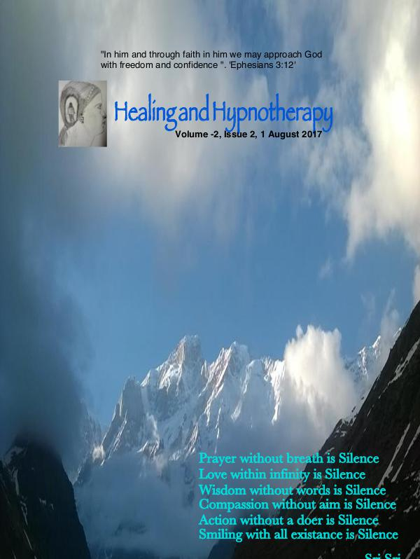 Healing and Hypnotherapy Volume 2, Issue 2 (August 1 2017)