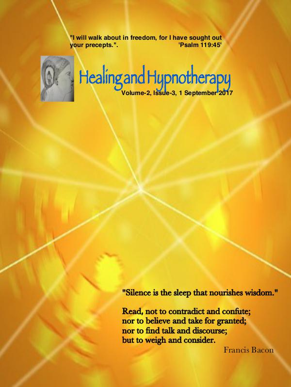 Healing and Hypnotherapy Volume 2, Issue 3, (September 1, 2017)