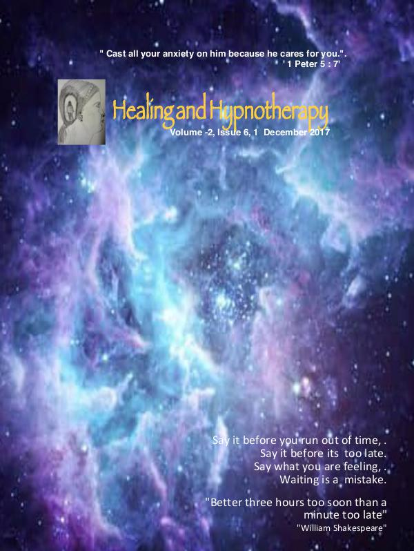Healing and Hypnotherapy Volume 2, Issue 6, (December 1, 2017)