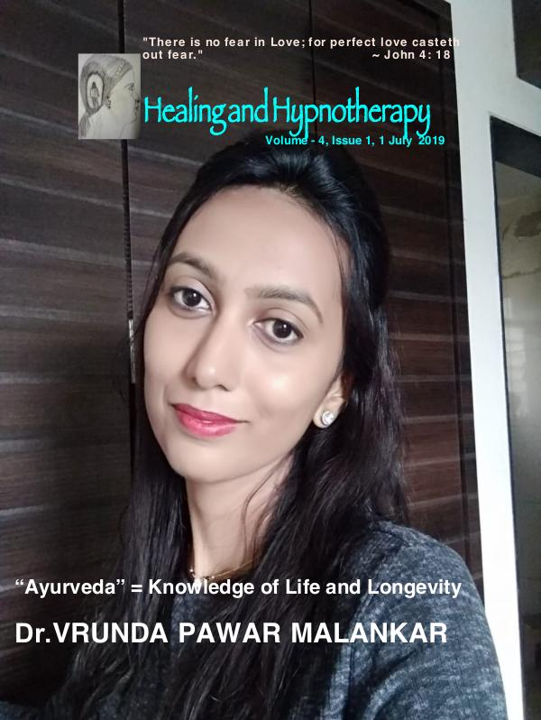 Healing and Hypnotherapy Volume - 4, Issue - 1, 1 July 2019