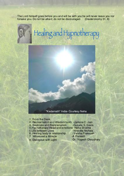 Healing and Hypnotherapy Volume 1 Issue 3 (1 September 2016)