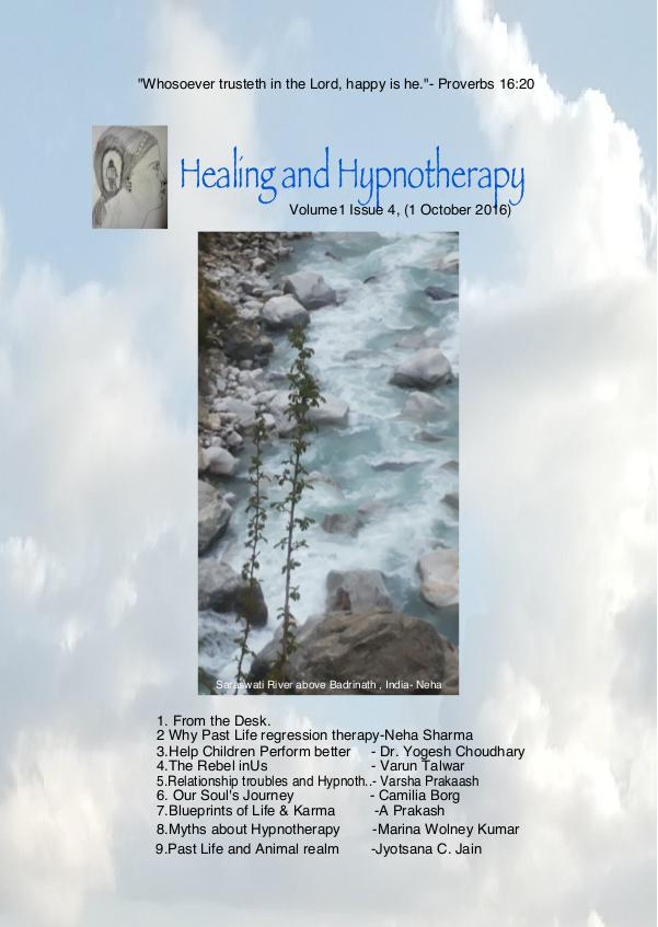 Healing and Hypnotherapy Volume 1 Issue 4, (I October 2016)