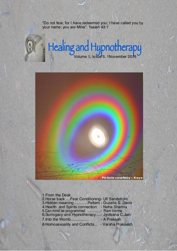 Healing and Hypnotherapy Volume 1 Issue 5, (I November 2016)
