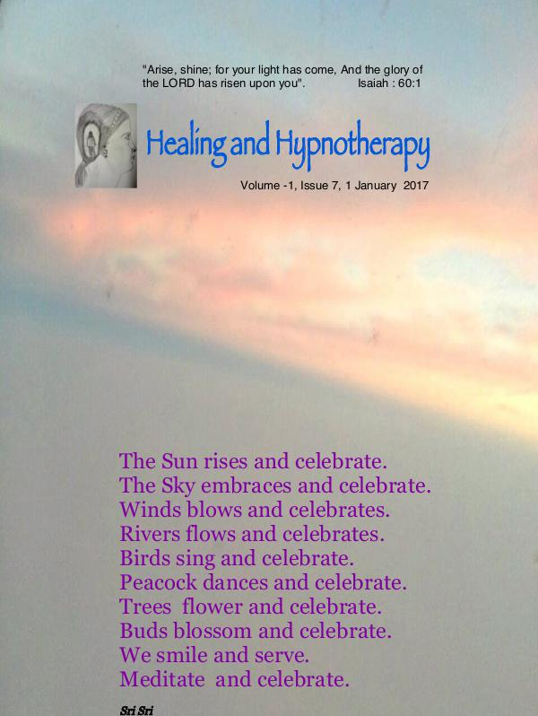 Healing and Hypnotherapy Volume -1, Issue 7, 1 January 2017