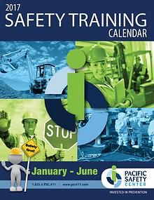 Pacific Safety Training Calendar Jul-Dec 2016