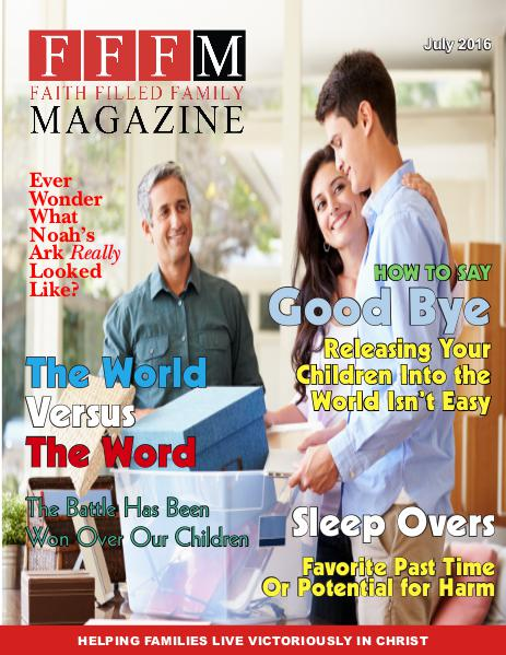 Faith Filled Family Magazine July 2016
