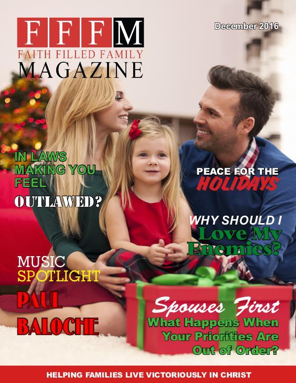 Faith Filled Family Magazine December 2016