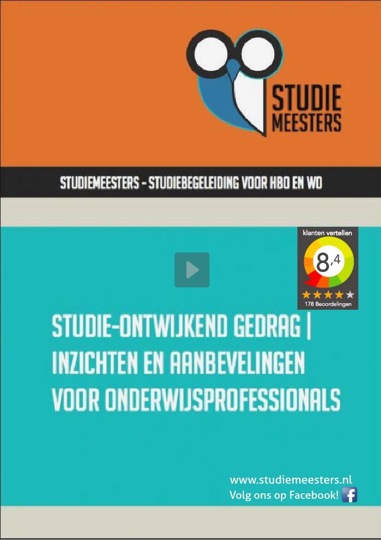 Brochure Studiemeesters brochure SM