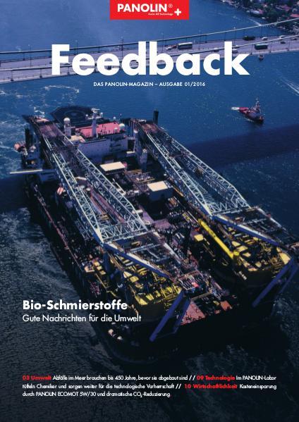 PANOLIN Feedback Nr. 1/2016 - Deutsch April 2016