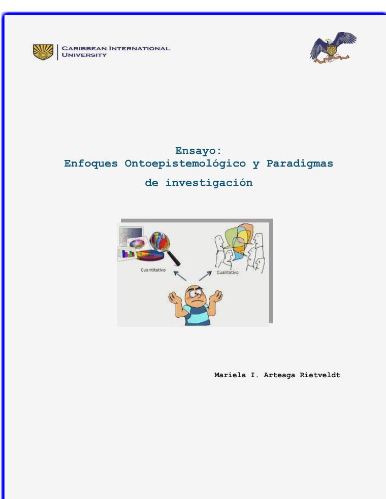 Enfoques Ontoepistemológico y Paradigmas de investigación 01