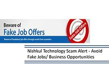 Nishkul Technology Scam Alert - Avoid Fake Jobs & Business Opportunit