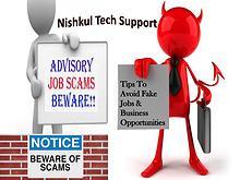 Nishkul Tech Support - Tips To Avoid Fake Jobs