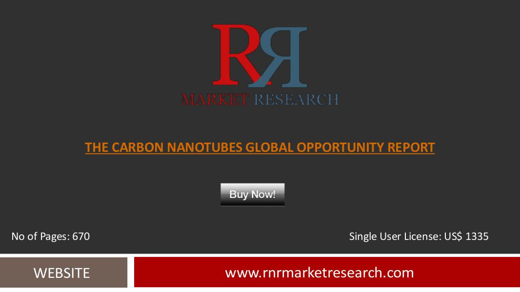 Carbon Nanotubes Markets, Benefits and Applications in 2016 Report Sep 2016