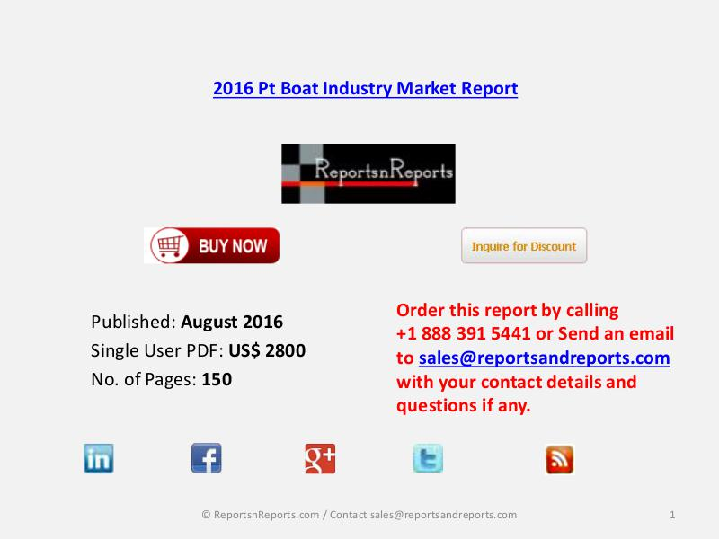 Pt Boat Market 2016-2021 Global and Chinese Industry Forecast Aug 2016