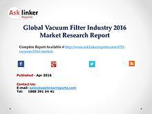 Global Vacuum Filter Market Analysis of Key Manufacturers 2016
