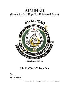 AL'JIHAD : Humanity Last Hope For Union And Peace