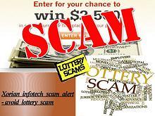 Xorian Infotech Scam Alert - Avoid Lottery Scam