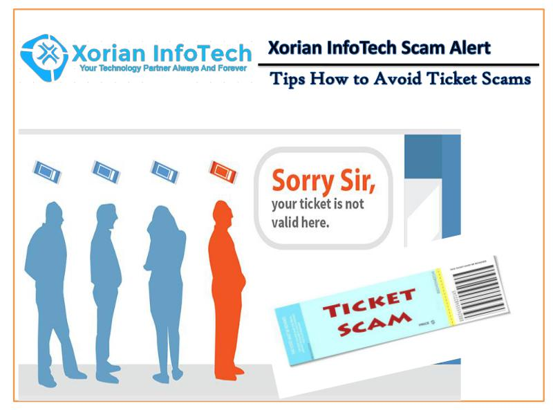 Tips How to Avoid Ticket Scams - Xorian Infotech scam alert